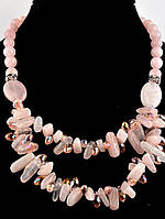 Бусы из натурального камня розовый кварц