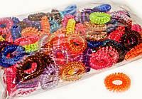 Цветные резинки пружинки прозрачные набор 100 шт.