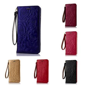 """Iphone 6 / 6S / 6 Plus оригинальный кожаный противоударный чехол книжка НАТУРАЛЬНАЯ КОЖА """" CHANEL """""""