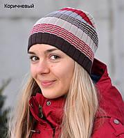 Полосатая шапка для девочки