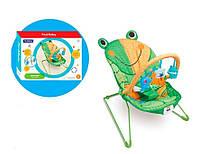 Детское кресло шезлонг музыкальный  Жабка-лягушка