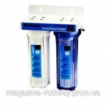 Двухступенчатая система очистки воды с краном под мойку  SF 10-2+ картриджи Насосы+