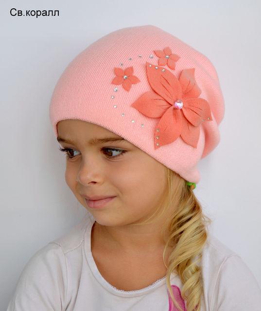 Двойная шапка для девочки