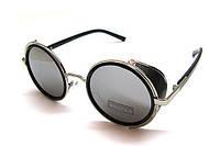 Круглые черные очки от солнца