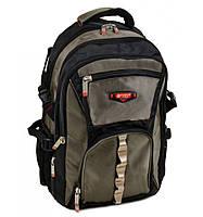 Рюкзак городской нейлоновый темно-зеленый