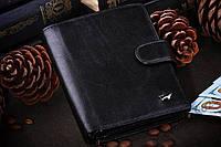 Портмоне чёрное вместительное Braun Buffel , кожа натуральная, Германия
