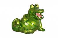 """Копилка из полистоуна 40x28x33 см. """"Зеленый крокодил"""""""