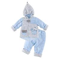 Комплект для новорожденных ТМ Ля-Ля, велюр (артикул 2ТК034Б, 2ТК034В)