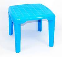 Синий квадратный стол для детей