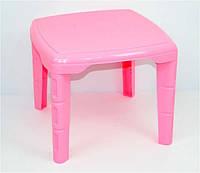 Розовый стол детский из пластика