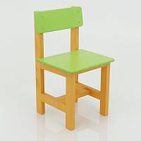 Красочный детский стул со спинкой