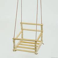 Качеля деревянная подвесная для детей