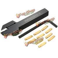 Mgehr  1212-2 12x12x100мм держатель желобков инструмент с 10шт mgmn200 вставками