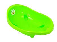 Салатовая детская ванночка для купания