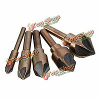 5шт промышленный зенкер набор инструментов 82° буровое долото деревообрабатывающий фаска