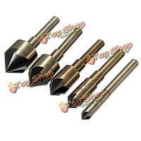 5шт HSS 82° для снятия заусенцевбит зенковки сверла установить деревянные инструмент фаски снятия фаски