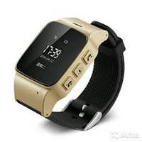 Умные часы с GPS трекером D99. (OLED дисплей 0,95″ + WI-FI). Золото.