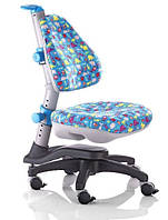 Детское кресло KY-318, обивка голубой-динозаврики