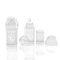 Антиколиковая бутылочка 180ml White - TWISTSHAKE