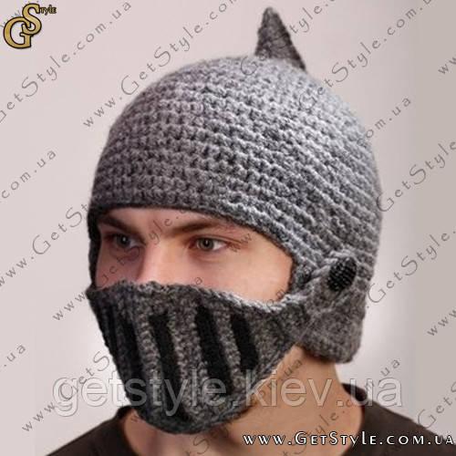 вязаная шапка шлем рыцаря в киеве и украине по низкой цене почти