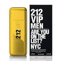 Мужская туалетная вода Carolina Herrera 212 VIP Men Gold (Каролина Эррера 212 ВИП Мен Голд)