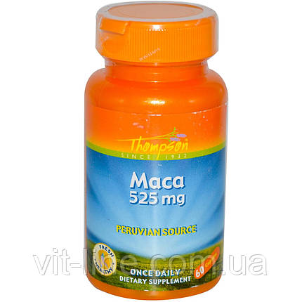Thompson, Мака, 525 мг, 60 капсул, фото 2
