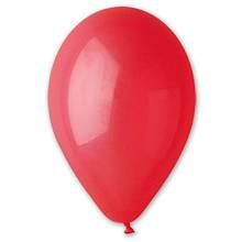 Воздушный шар без рисунка 8 см красный