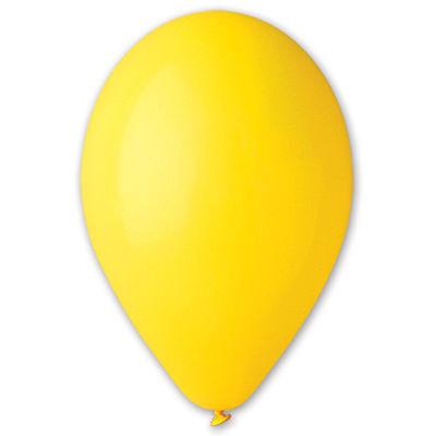 Воздушный шар без рисунка 8 см желтый