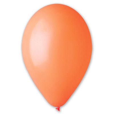 Воздушный шар без рисунка 8 см оранжевый