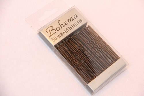 Шпильки Bohema коричневые 50 мм. 50 шт.