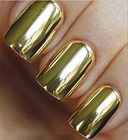 Зеркальная пудра для ногтей, 2 гр, золото .