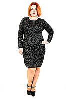 Теплое платье большого размера 16483 р 48,50,52,54