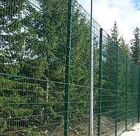 """Заборная секция """"Дуос"""" в ПВХ 6.5/5.5/6.5мм, 1.63м"""