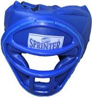 Шлем боксёрский SPRINTER закрытый с маской, кожзам