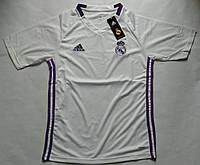 Футболка Реала тренировочная (поло), белая, фото 1