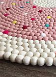 Ковер для девочки бело розовый с яркими вкраплениями из овечьей шерсти, фото 3