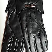 Женские кожаные перчатки Moschino с бантиком