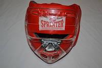 Шлем боксёрский SPRINTER закрытый с маской, кожа