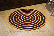 Сучасний натуральний килим з повсті, повстяні валяні килими в Одесі