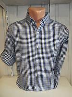 Рубашка мужская ALBERTO MALDINI  длинный-короткий рукав, мелкая клетка, комб. 001\ купить рубашку
