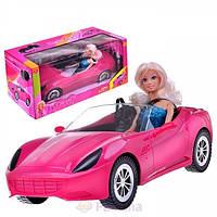 Кукла Defa в машинке кабриолете 8228