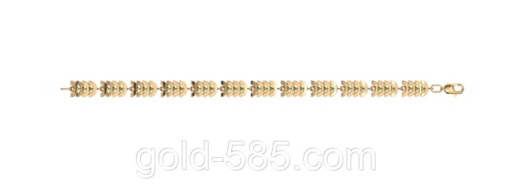 be4fc35832d9 Стильный женский золотой браслет 585  пробы   продажа, цена в ...