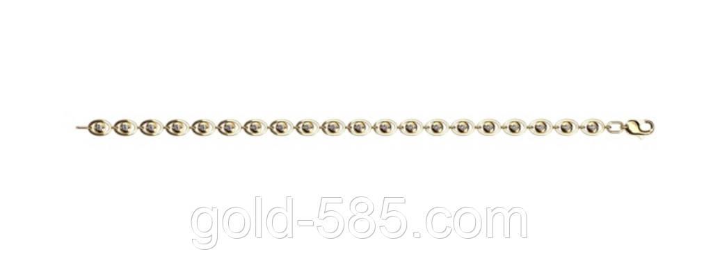 31a35e082323 Женский золотой браслет 585  пробы с овальными звеньями - Мастерская  ювелирных украшений «GOLD-