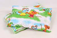 Детское одеяло с подушкой хлопок/холлофайбер 008