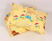 Детское одеяло с подушкой хлопок/шерсть 002