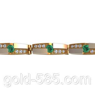 Стильный мужской золотой браслет 585  с камнями любого цвета - Мастерская  ювелирных украшений «GOLD 83c42233fa8