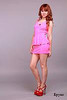"""Летнее платье в полоску  """"Брукс"""", розовый неон"""