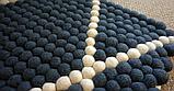 Чорний килим з білими геометричними лініями на підлогу в Харкові, фото 2
