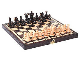 Шахматы деревянные ручной работы маленькие 30см  h 6см