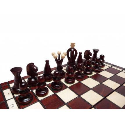 Шахматы деревянные ручной работы маленькие 30см  h 6см, фото 2